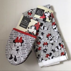 Disney Minnie Mouse 2pk Oversized Mini Mitts/Dish Towels